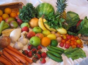 Fresh vegetables for raw juicing